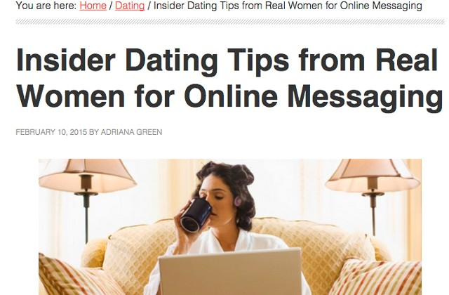 Tips for messaging online dating
